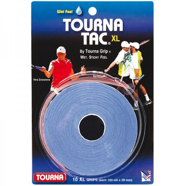 Tourna Tac XL 10 Pack Tennis Overgrip - Wet Feel (Tacky)